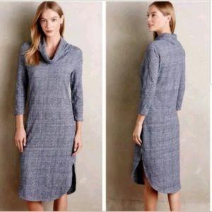 Anthropologie Saturday Sunday Blue Sweater Dress